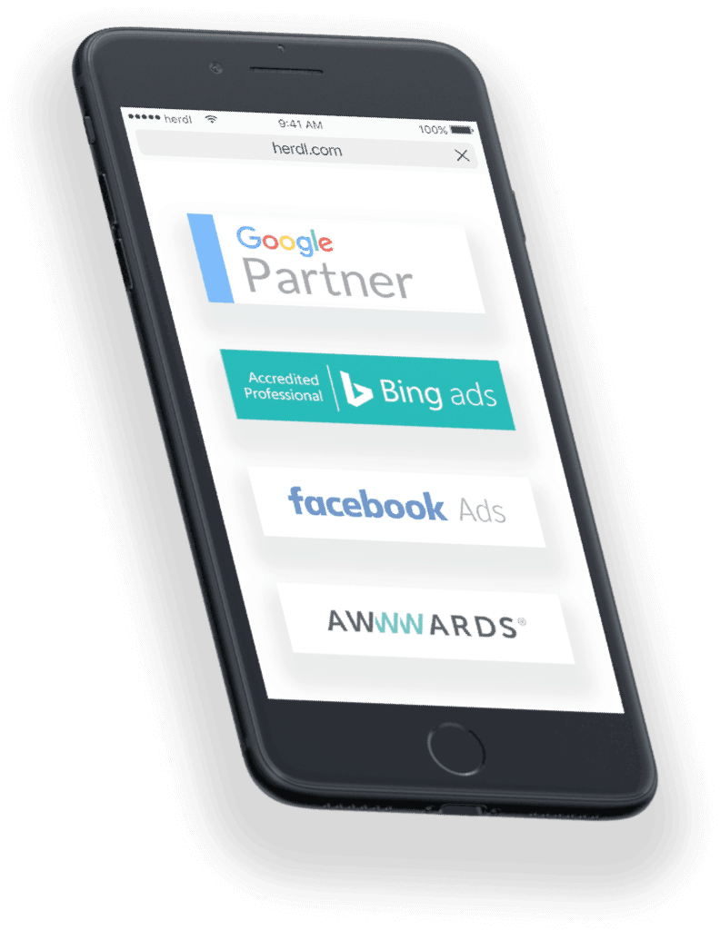 Google partner shown on iPhone